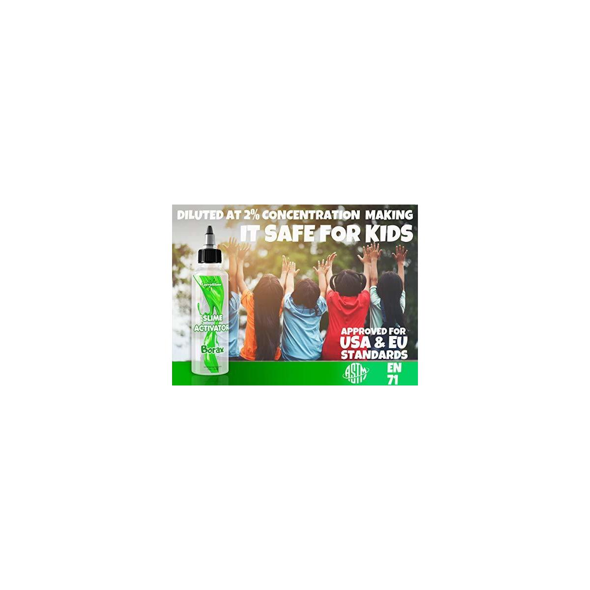 Slime Activator Borax Solution Best Value KIT [15.2 oz] + Bonus deActivator to Save Your Slime - Add to Elmers Glue or Slime Glue - Replaces Saline Solution, Liquid Starch, Contact Solution [450ml]