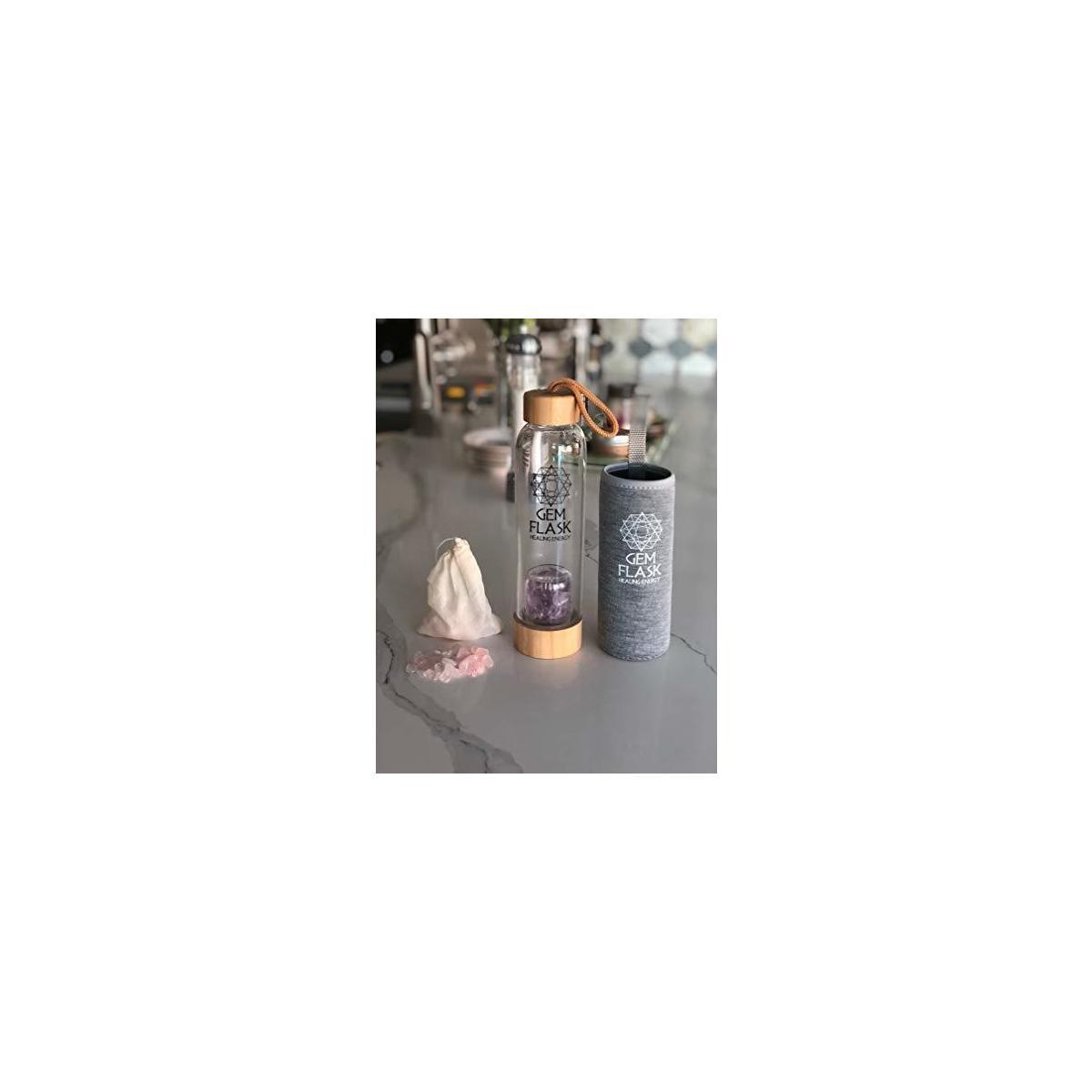 GemFlask Crystal Gemstone Water Bottle