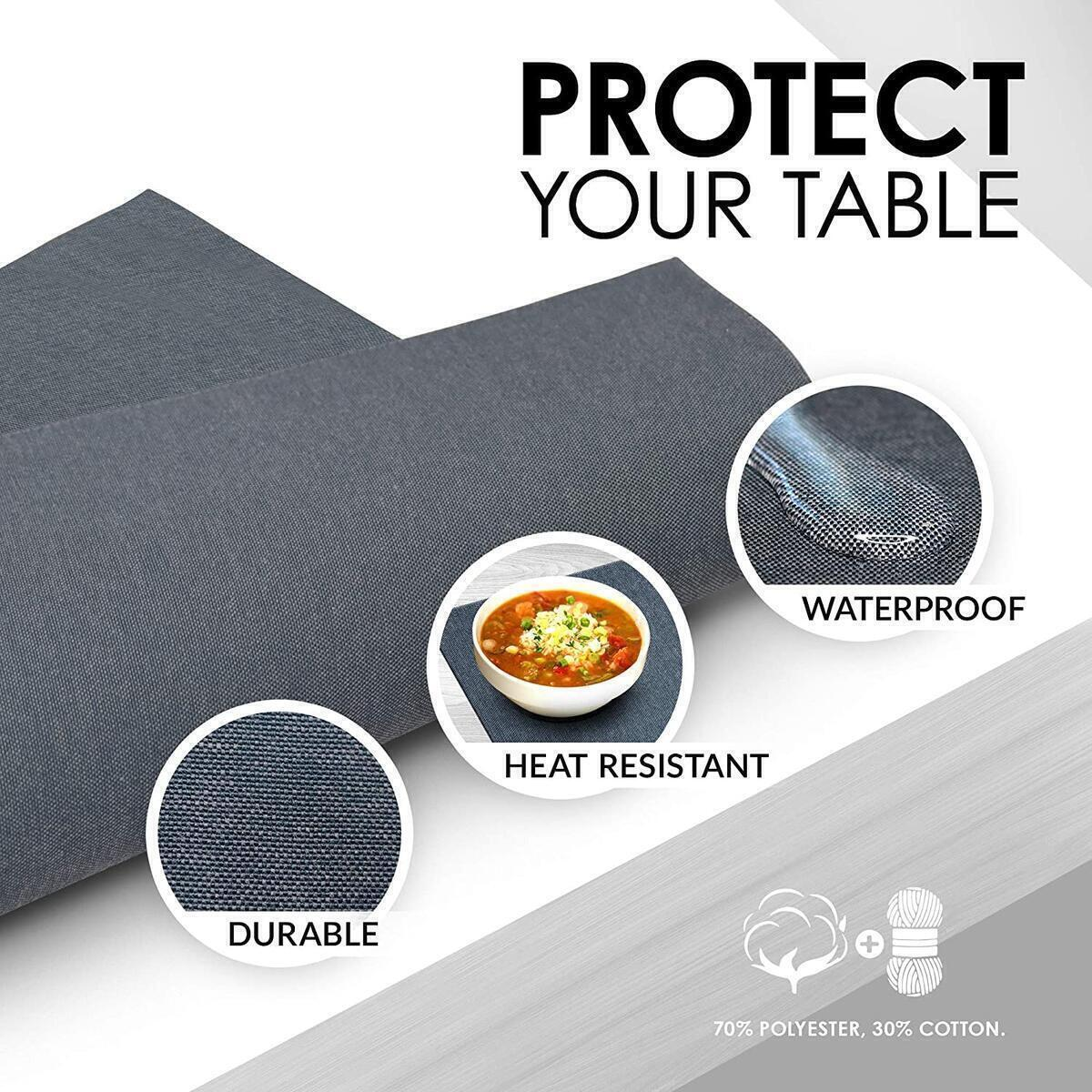 ArtanHome Gray Placemats Set of 4