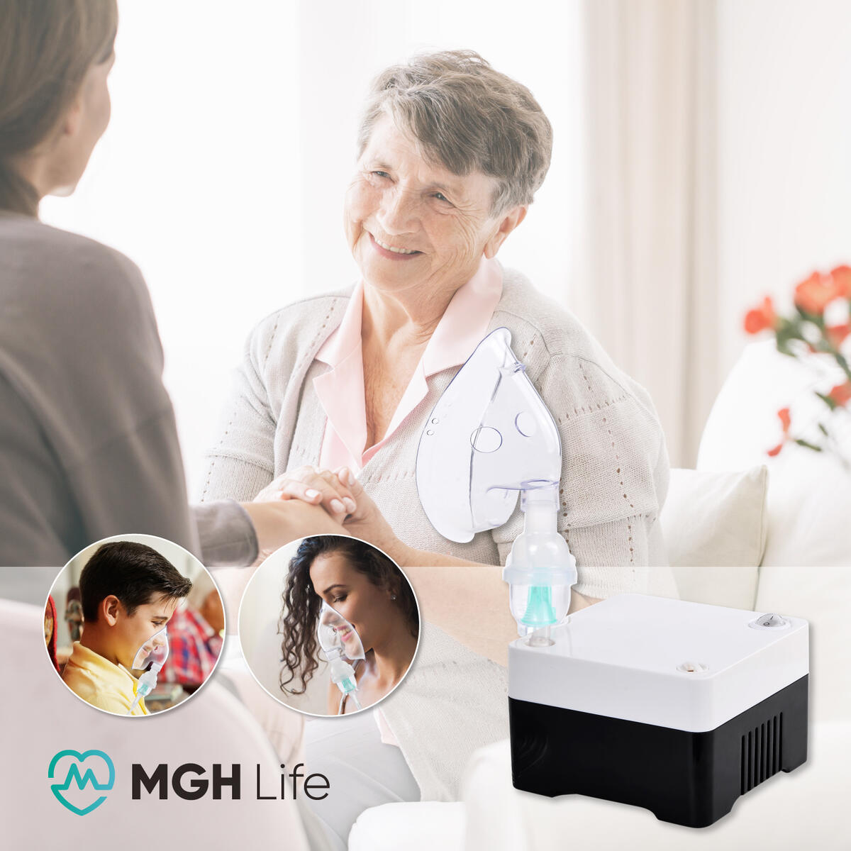 MGH Life Portable Cool Mist System with Accessories (Compressor with Accessories Kits)