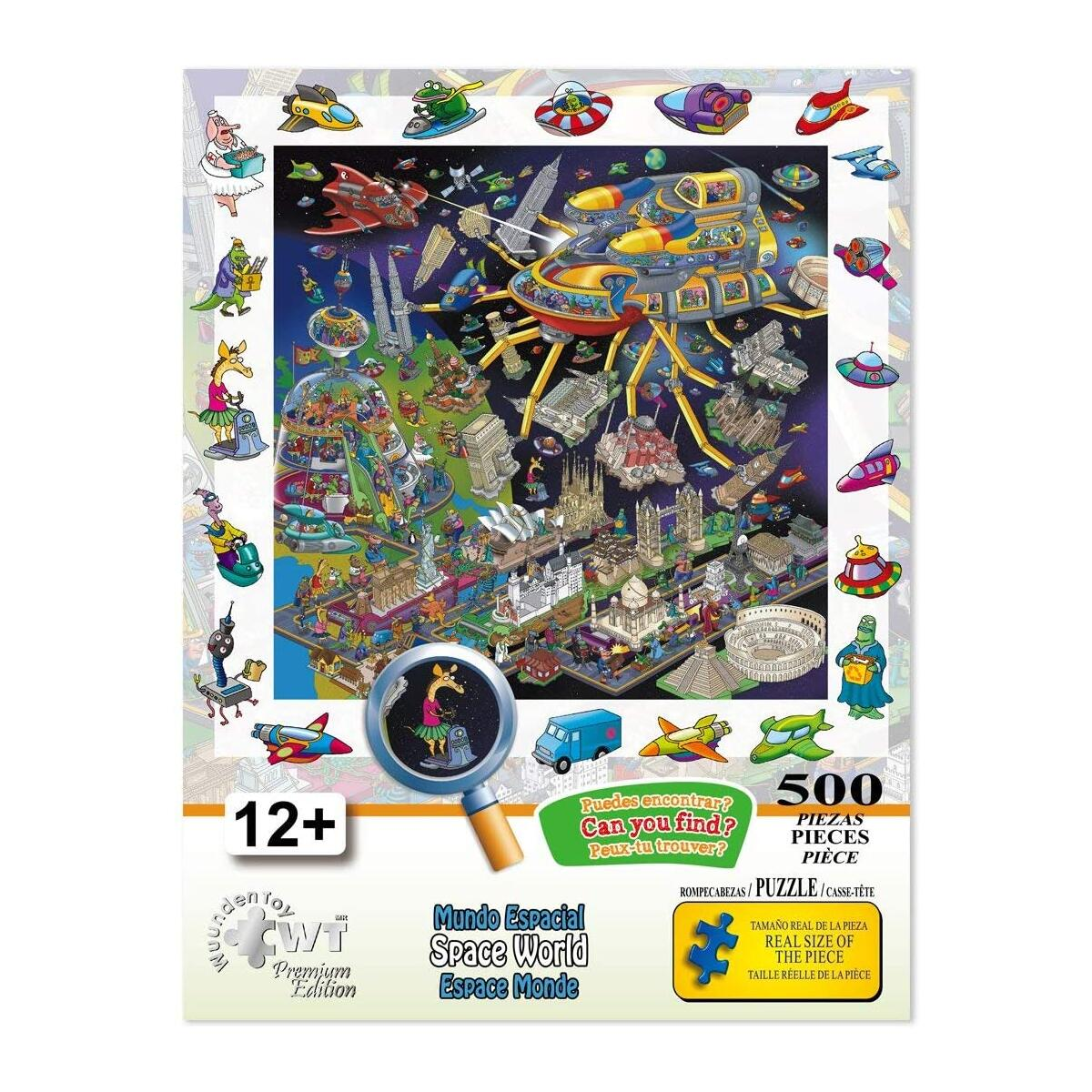 Wuundentoy Premium Edition Jigsaw Puzzles - Search and Find - for Kids, Teens, and Adults - 500 Pieces (Space World)…