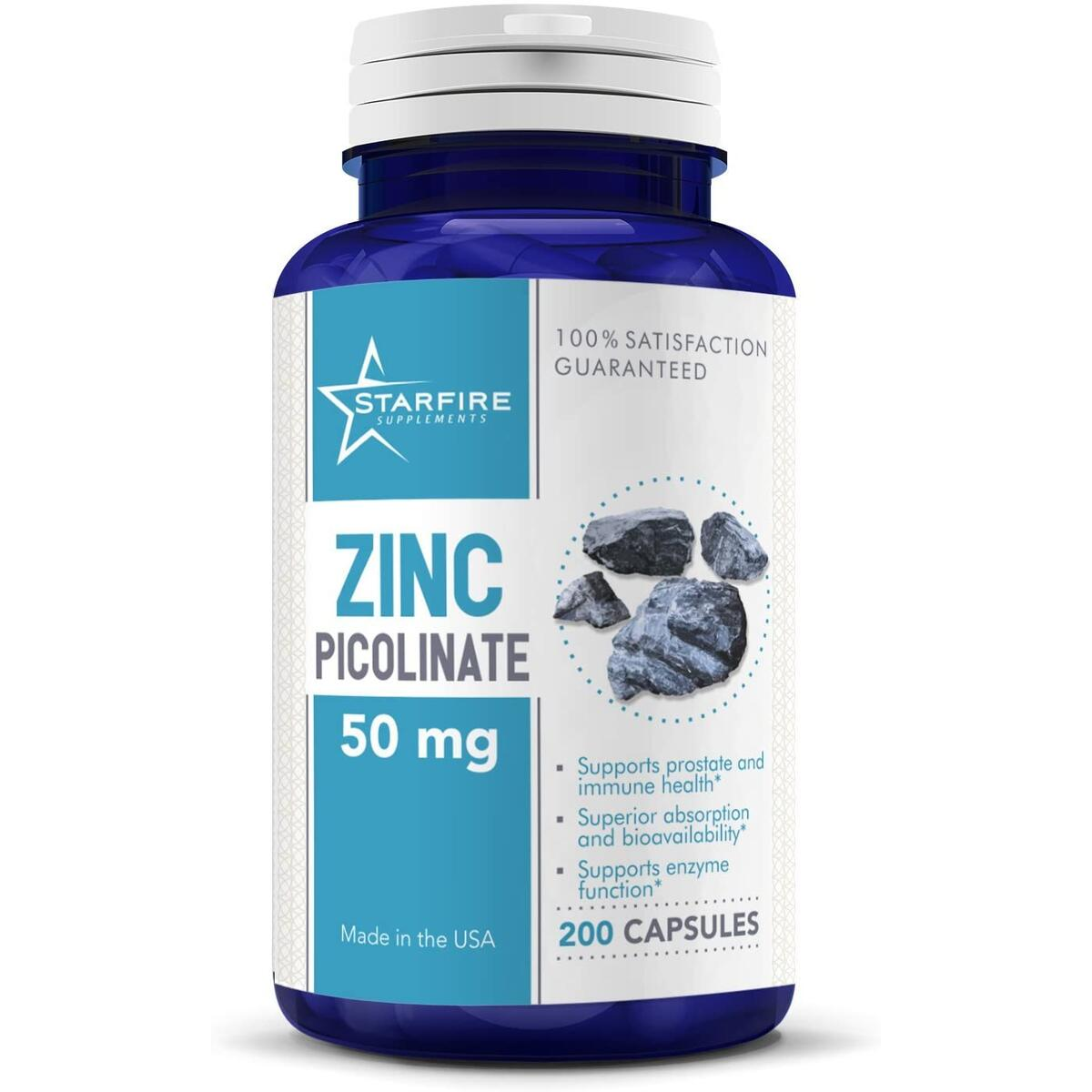 Starfire Supplements Zinc Picolinate 50mg 200 capsules