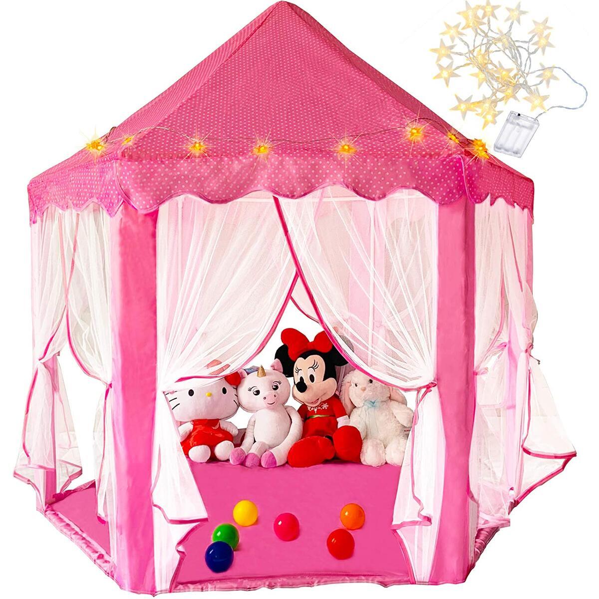 Princess Play Tent With Lights