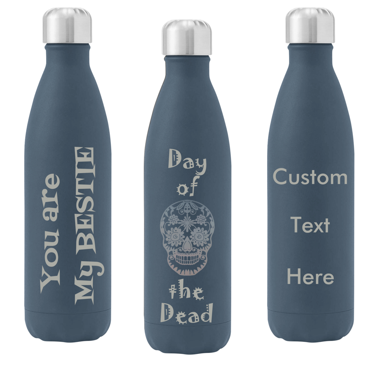 Customized Mugs and Tumblers - Three Colors w/ Personalized Text and or Artwork