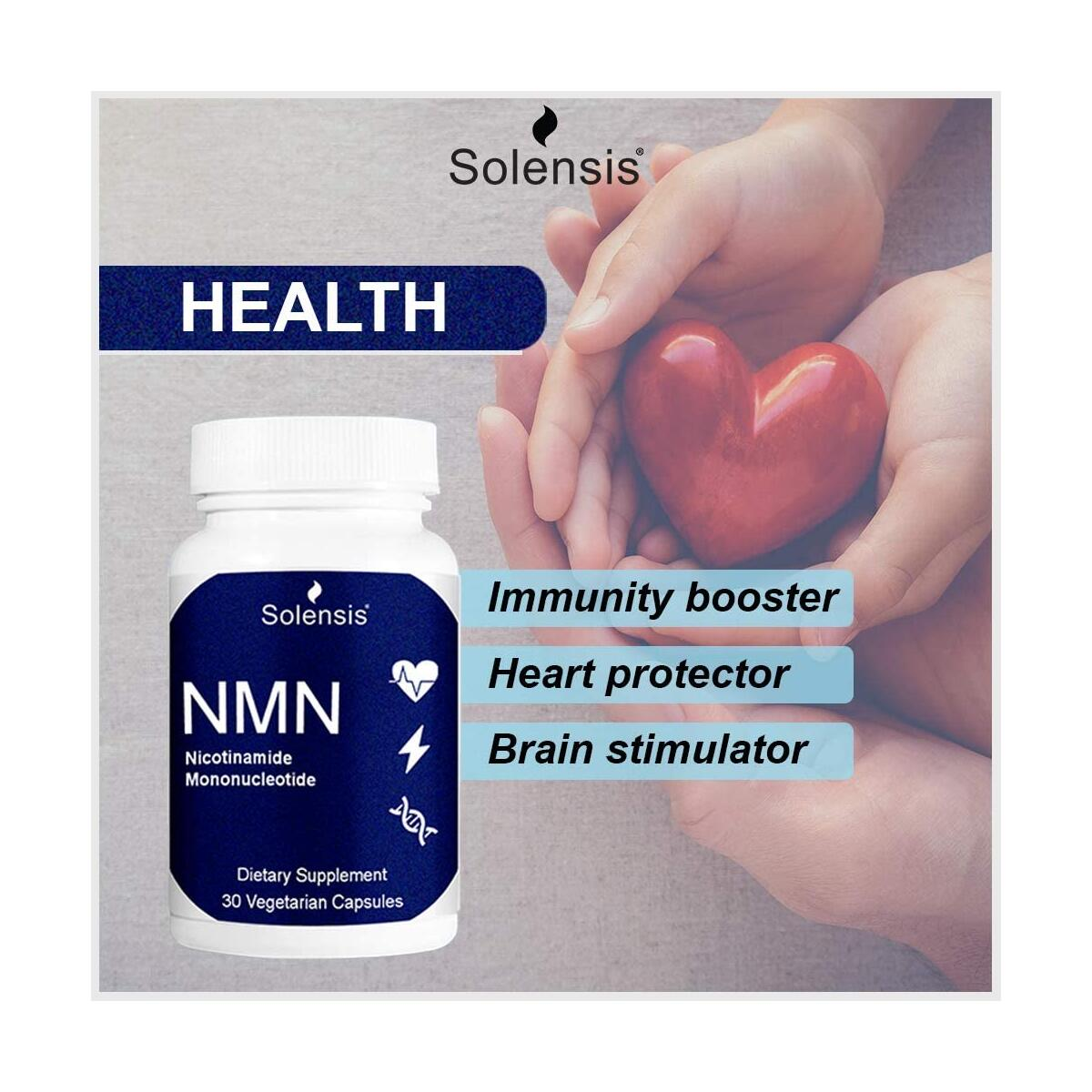 NMN Supplement 400MG / Capsule (30 Pills) - Pure Nicotinamide Mononucleotide - NAD+ & Energy Booster - Anti-Aging & Antioxidant - Vegan & Third Party Tested