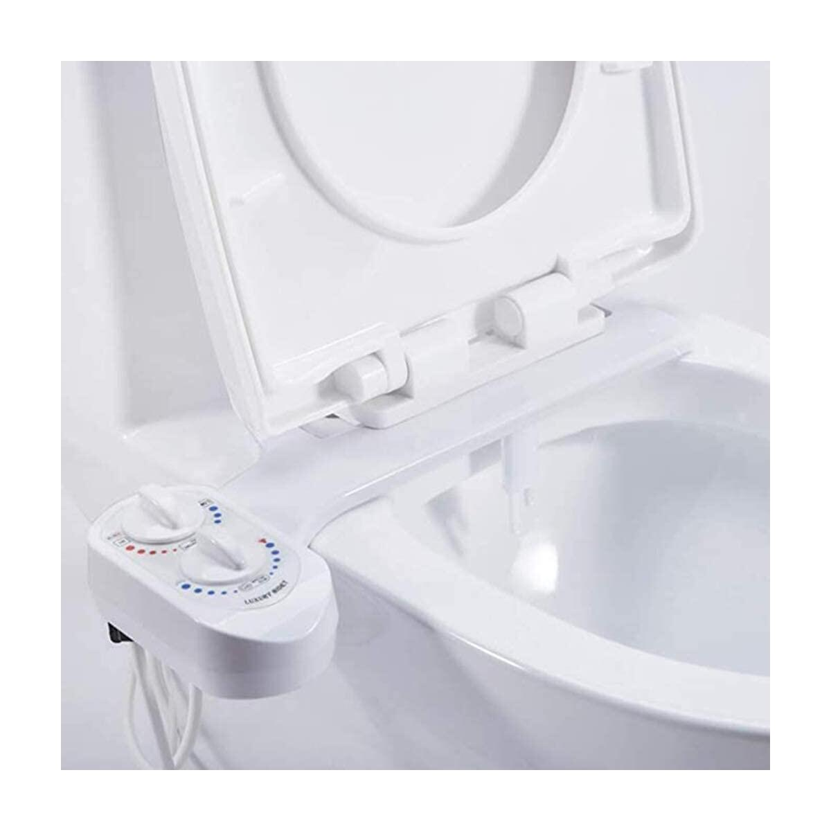 Flying Banana Home Bidet Sprayer For Toilet, Self-Cleaning and Retractable Nozzle, Hot and Cold Non-Electric Dual Nozzle Bidet Sprayer for Personal Cleansing Use