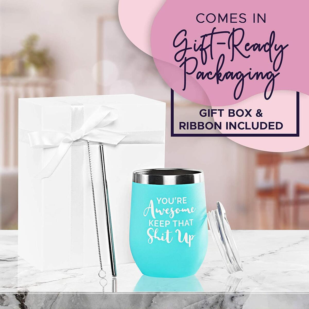 You Are Awesome - Mint Wine Tumbler G6-VF7M-IEY0 11172020