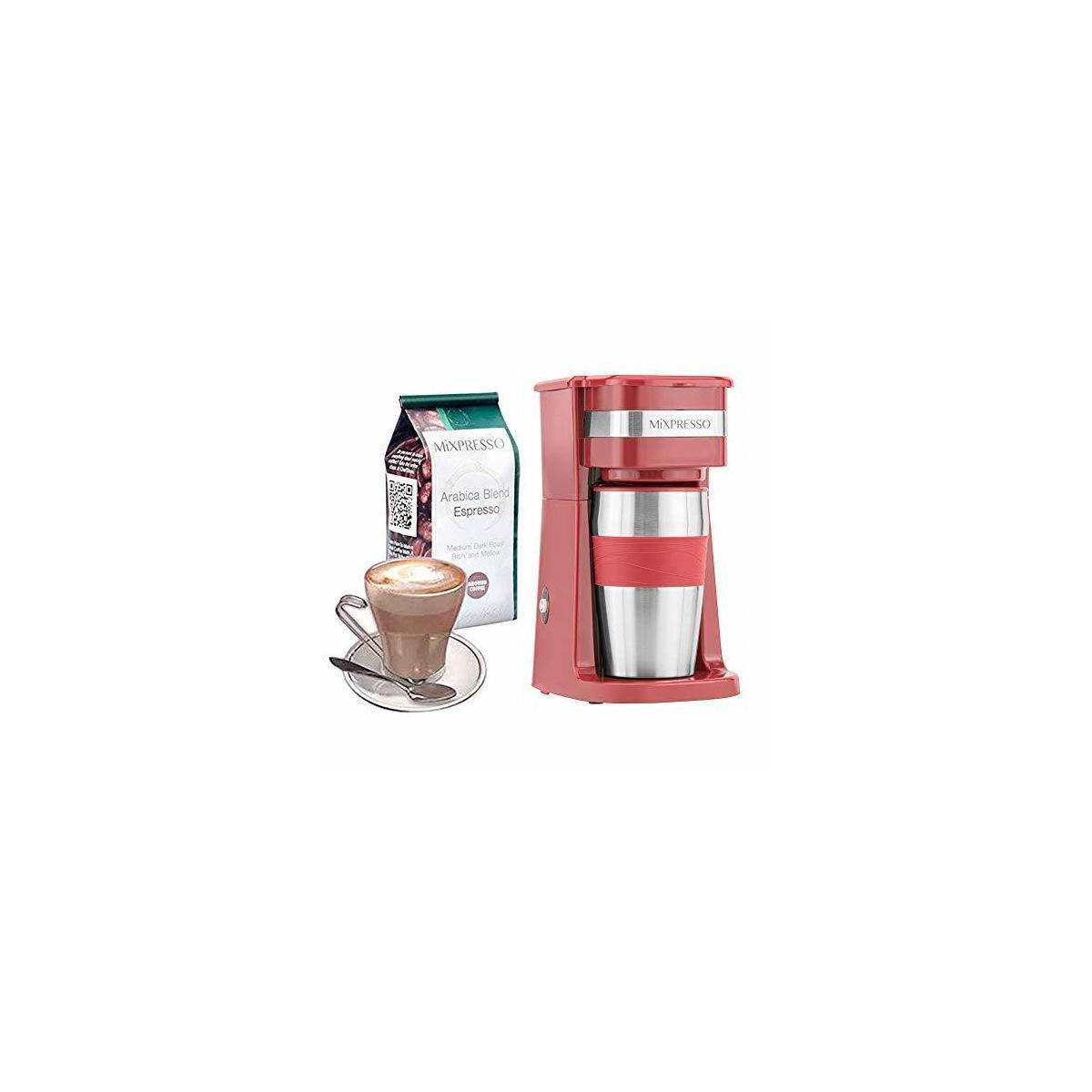 Ultimate 2 In 1 Single Cup Coffee Maker 14oz Travel Mug ...
