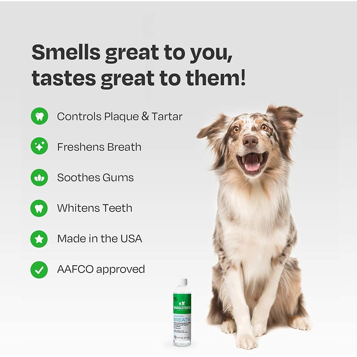 Waggletooth Premium Dog Breath Freshener Water Additive
