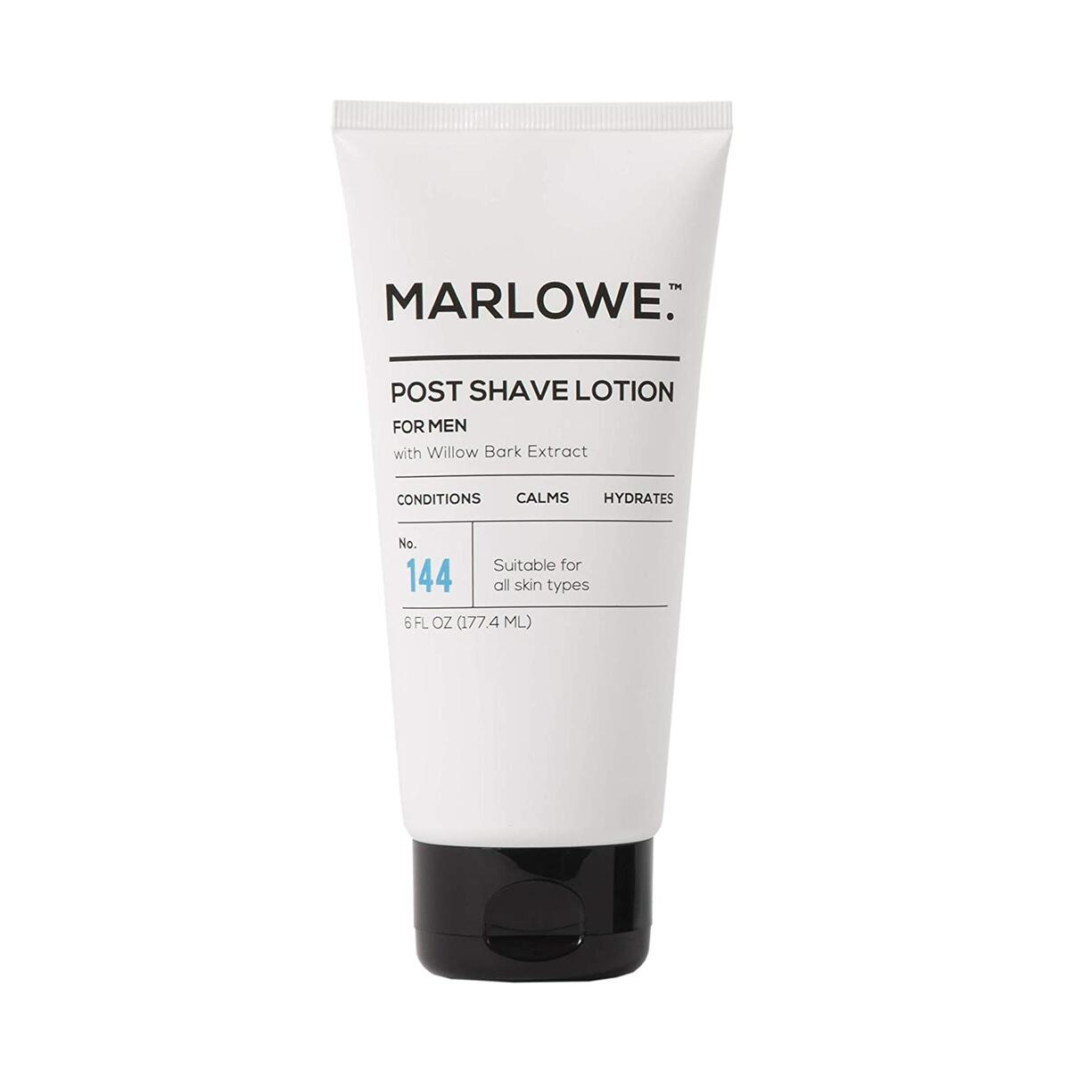 MARLOWE. No. 144 Aftershave / Post Shave Lotion for Men 6 Oz