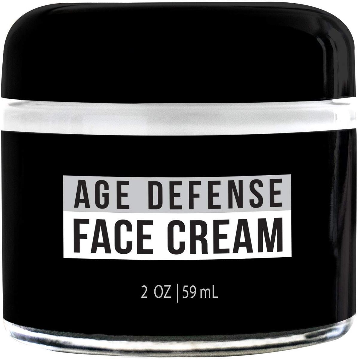 RUGGED & DAPPER Age Defense Face Cream for Men | Fast Action Ultra-Hydrating Day & Night Lotion for Men