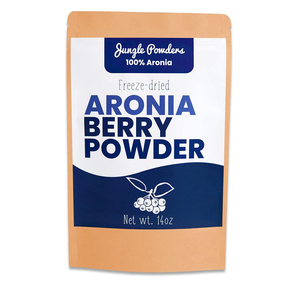 Jungle Powders Aronia Powder | 14oz 100% Natural Non Gmo Vegan Friendly Black Chokeberry Powder | Freeze Dried Antioxidant Superfood Concentrate…