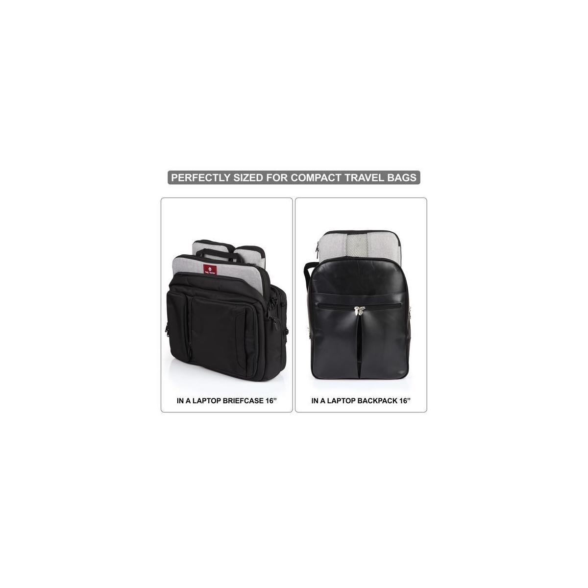 Compression Packing Cubes for Travel - Bag Factor Premium Luggage Organizer Set  (Light Grey)