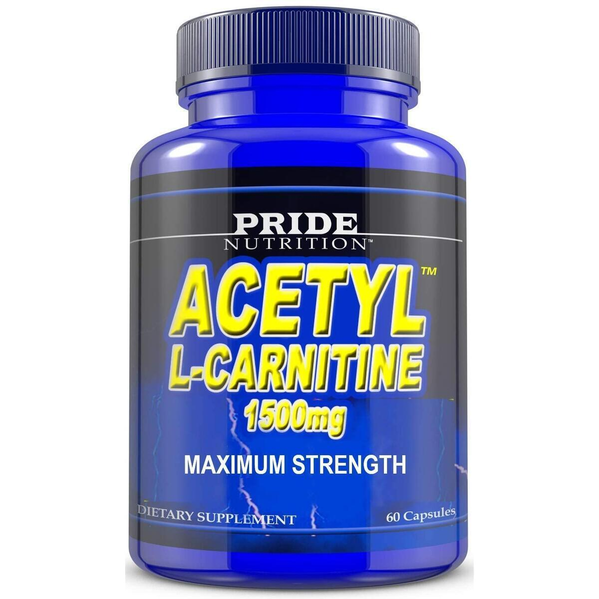 Acetyl L Carnitine 1500mg Supplement for Energy, Body Recomposition, Mental Sharpness, Memory & Focus- Antioxidant Brain Protection- Zero Fillers- Extra Strength Premium Grade L-Carnitine 60 CapsulesAcetyl L Carnitine 1500mg Supplement for Energy, Body Re