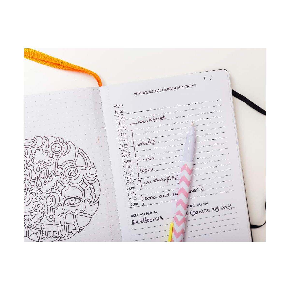 MYnd Map MY Journal - The Ultimate Mindfulness, Gratitude, Goals Setting Planning Journal | Undated Monthly, Week & Daily Planner | Creative with Hand Illustrations to Colour in | The Perfect Gift