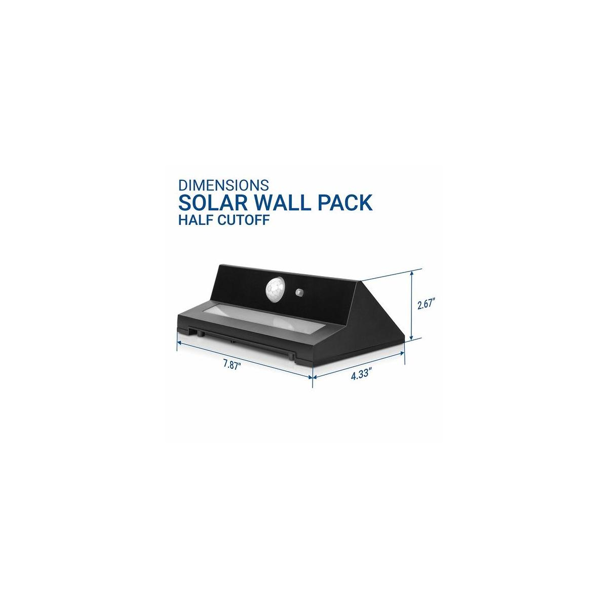 Solar Wall Lights Outdoor - LED Photocell -  For Garage, Yard, Driveway, Patio - 2 Pack