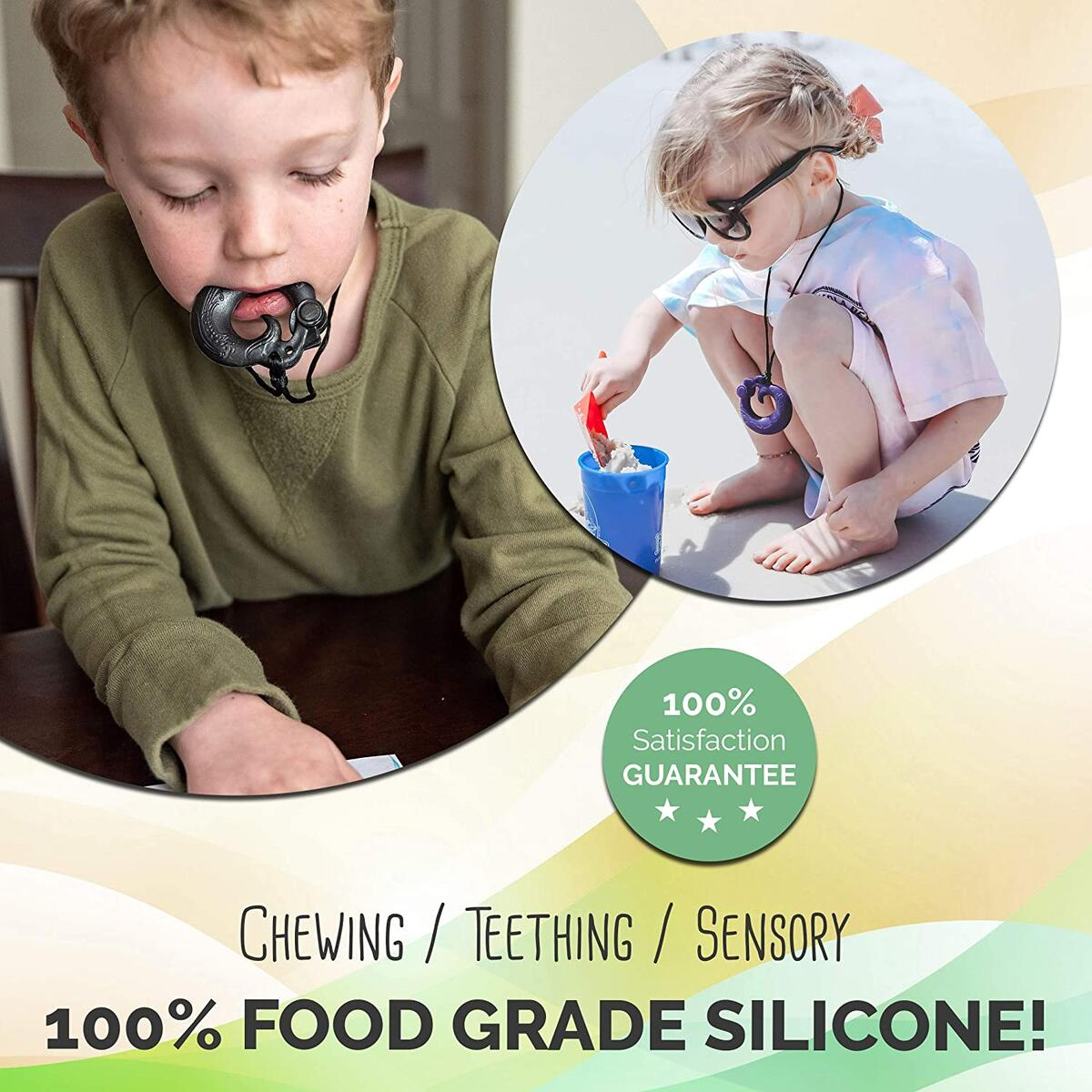 Phoenix Silicone Chew Necklace - Gender Neutral Teething Necklace for Children