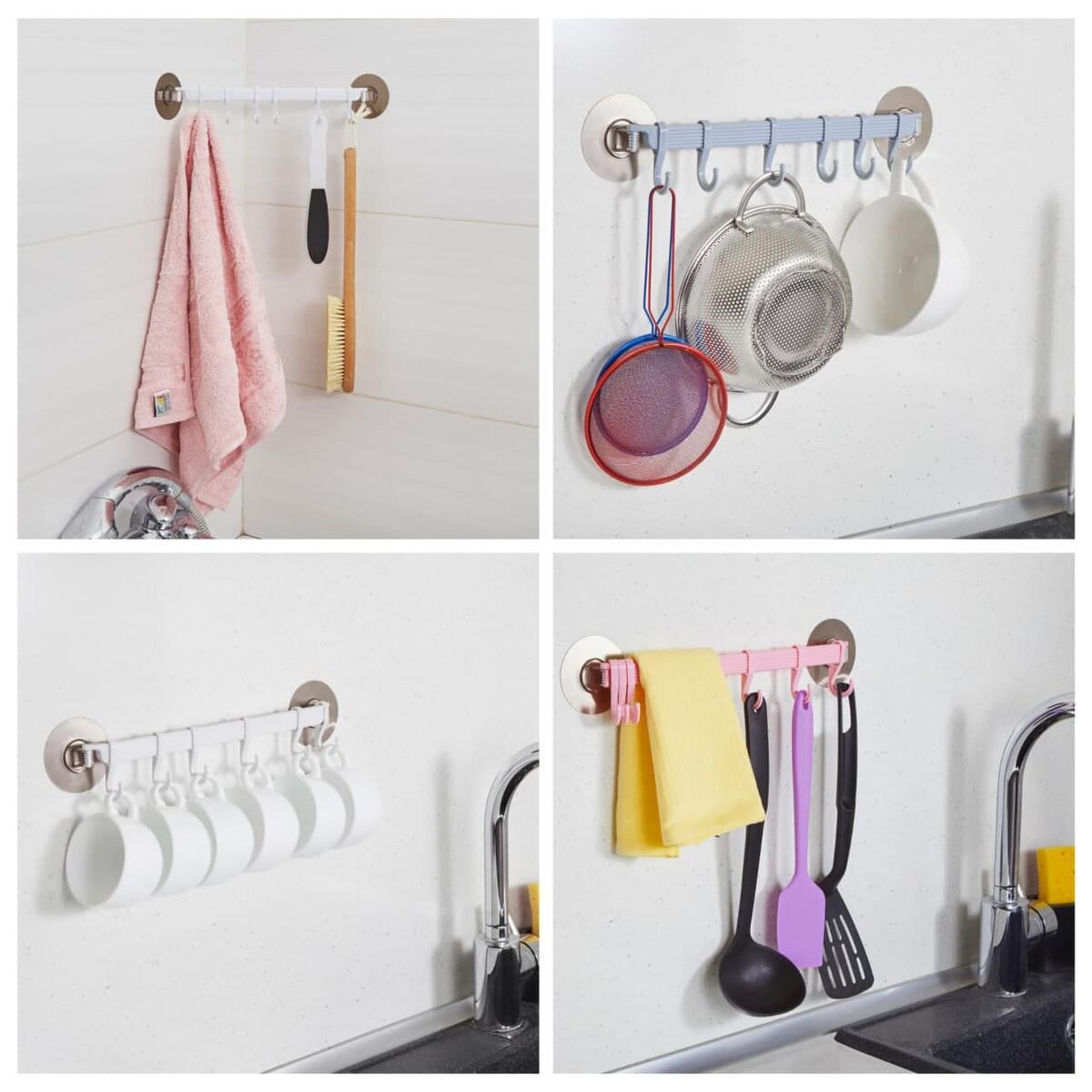 2-pack hanging utensil holder with hooks