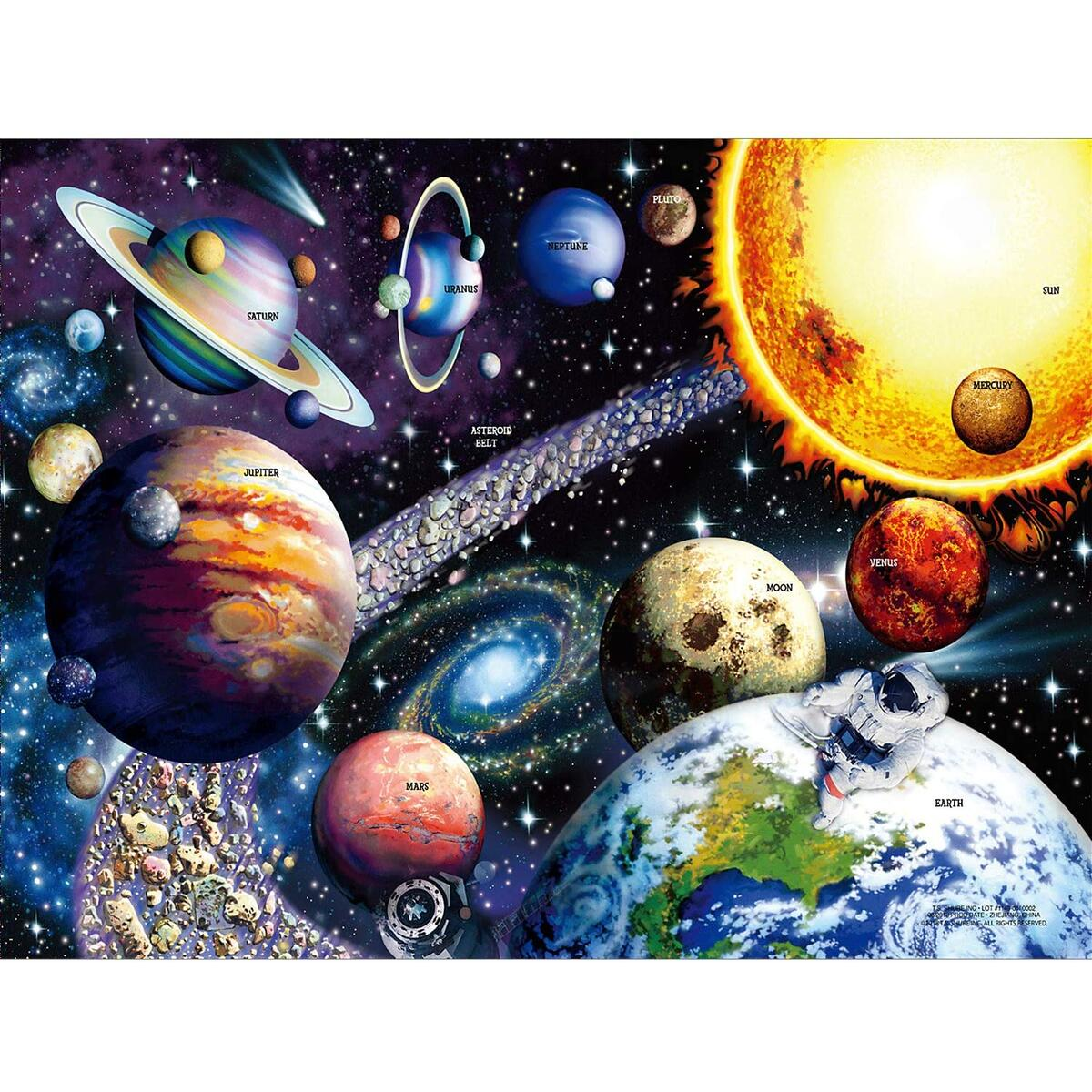 Sofore Planetary Vision Jigsaw Puzzle for Adults Teen Kids 1000 Piece Jigsaw Puzzle Fit Together Perfectly, Educational Intellectual Family Game