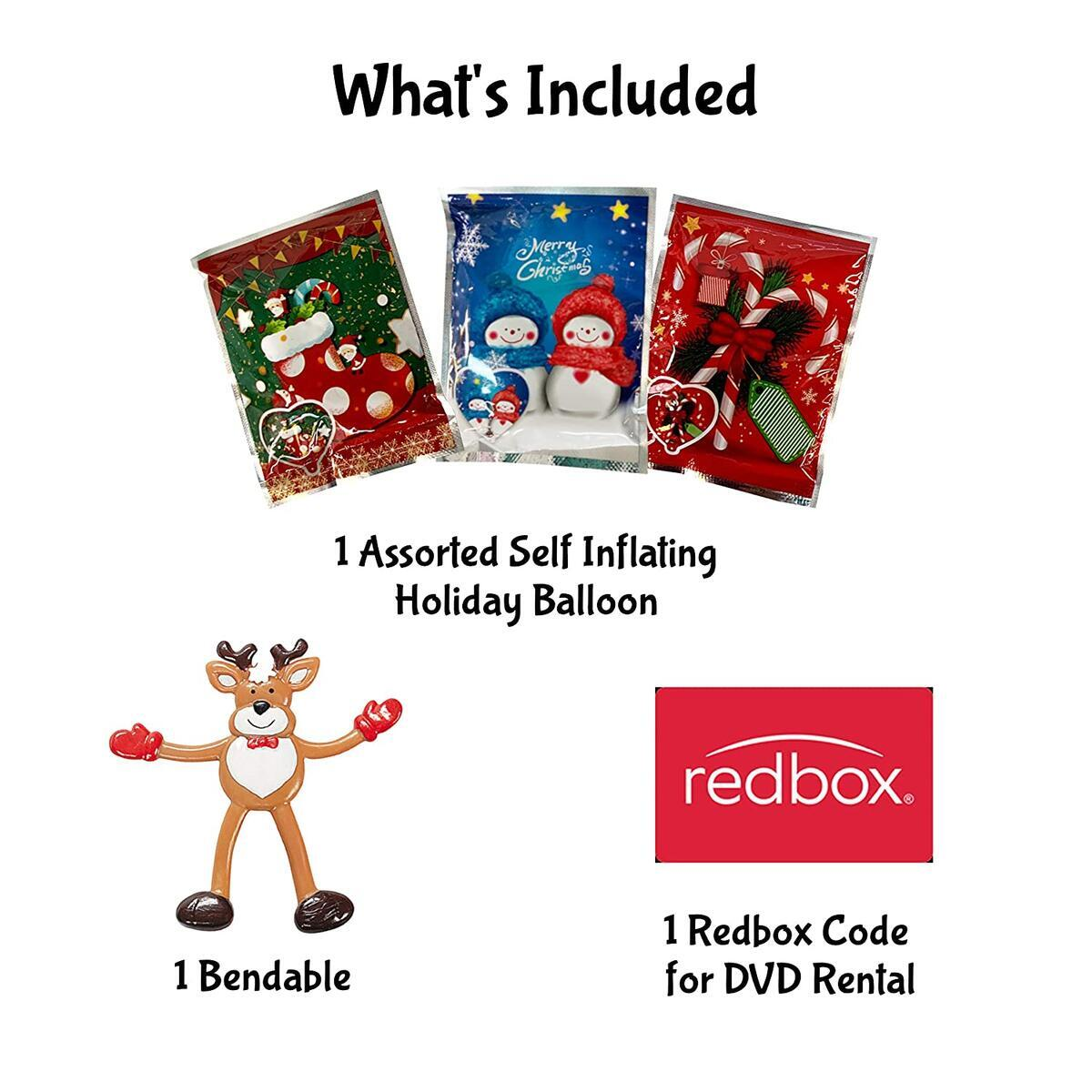 Christmas Redbox Movie Night Gift Baskets (Santa's Reindeer)
