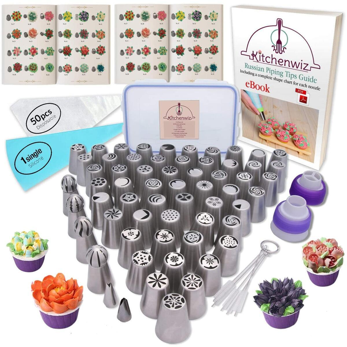 116 Russian Piping Tips Set Cake Decorations Kit
