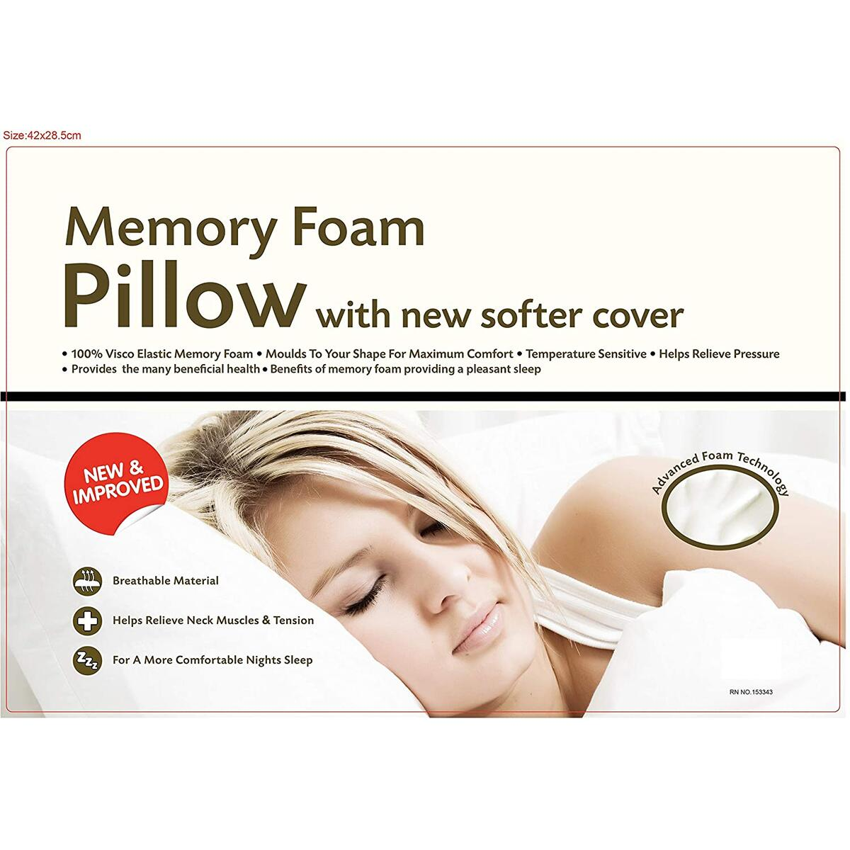 Adjustable Sandwich Memory Foam Neck Pillow for Sleeping, Ergonomic Firm Pillow for Neck Pain in Standard OR King Size