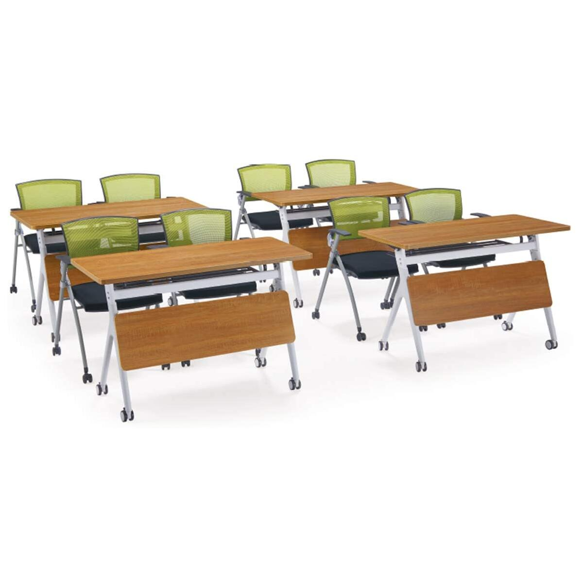 IBAMA Office Foldable Desk 1.2M Heavy Duty Flipper Table with Casters for Home Work, Study, Conference Training