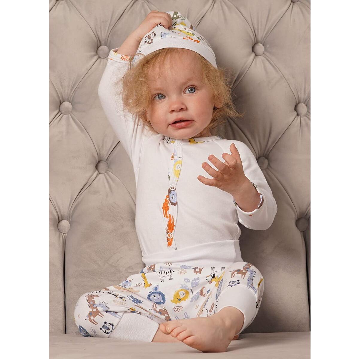 Bernisa Baby Girls' Boys' 3-Piece Set Unisex Design Cap-Pant- Long-Sleeve Bodysuit