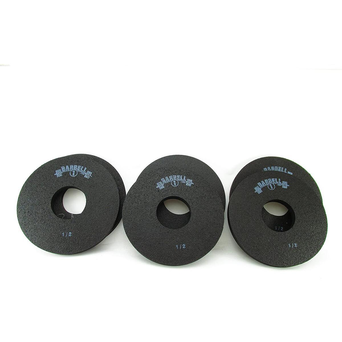 Barbell 1 Half Pound Fractional Rubber Olympic Weight Plates - 2, 4, 6, or 8 Pc Set (2 Plates, 1/2 lb.)