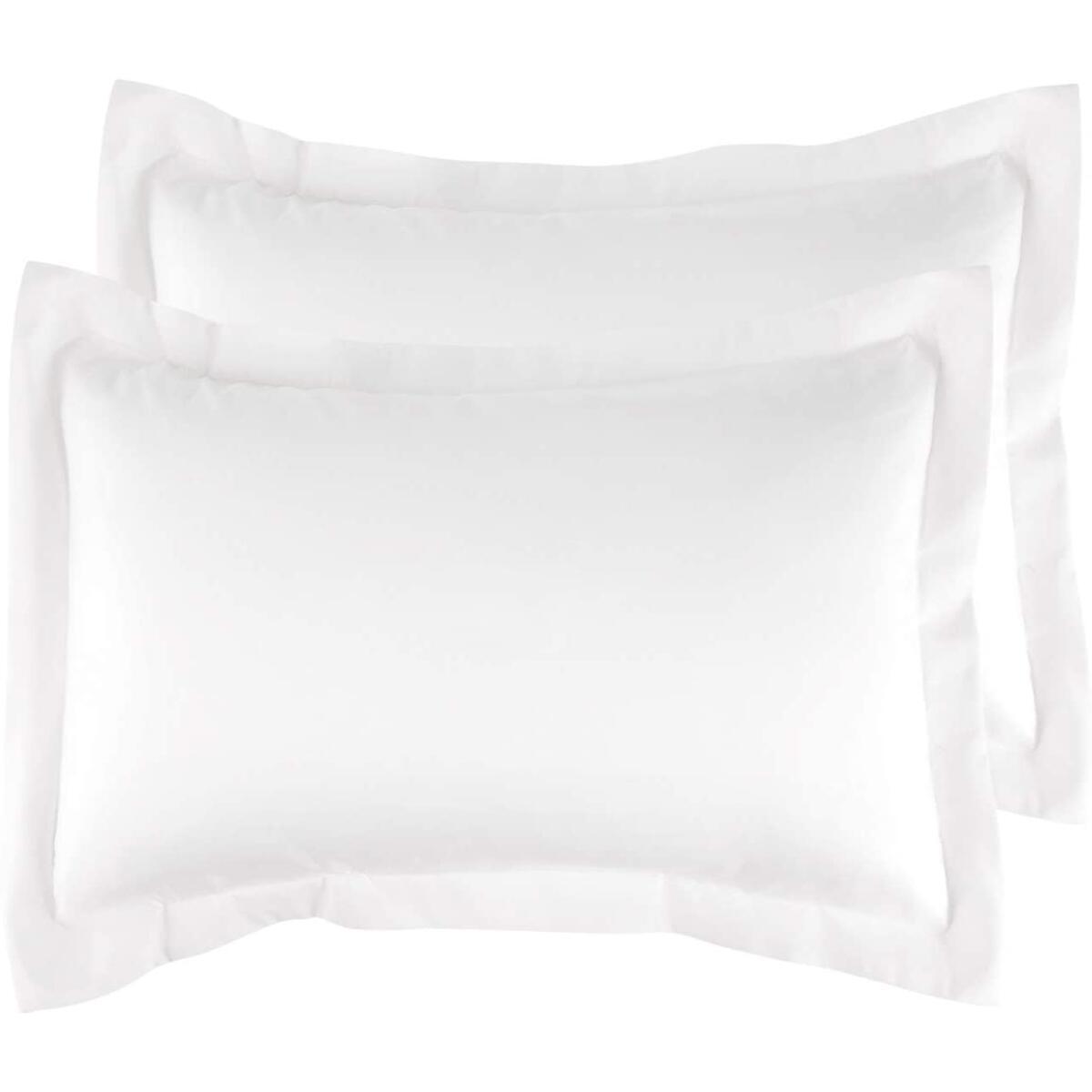 Brushed Pillow Shams White 20*26