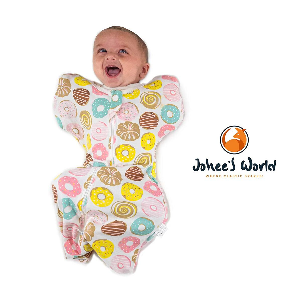 Swaddle (Pink, M) 5pc. Baby Swaddle Blanket Set with Baby Hand Mittens, Hat, Pacifier - Self-Soothing Newborn Infant Snug Fit Sleep Sack Wrap Calms Startle Reflex, Improves Sleep (0-3 Months)