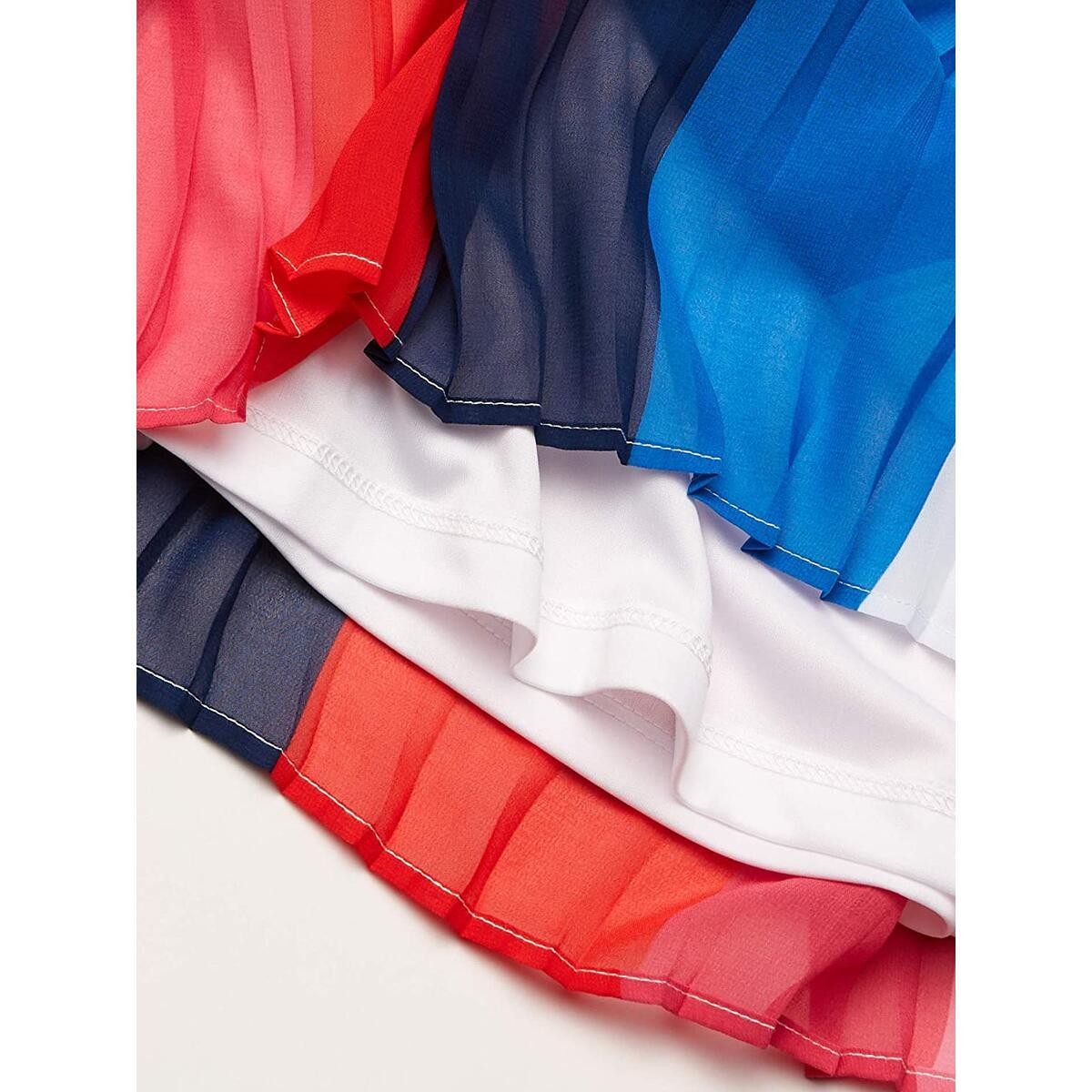 Tommy Hilfiger Girls' Sleeveless Pleated Colorblock Dress