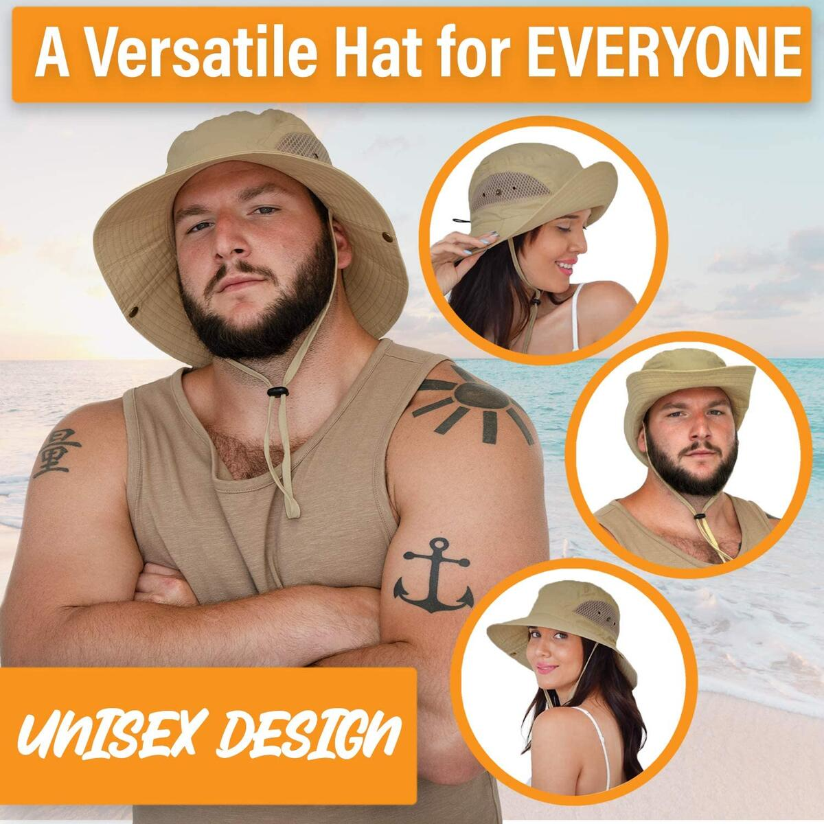GearTOP Sun Bucket Hat - Floater Series (Khaki, Beige, Army Green Colors Available)