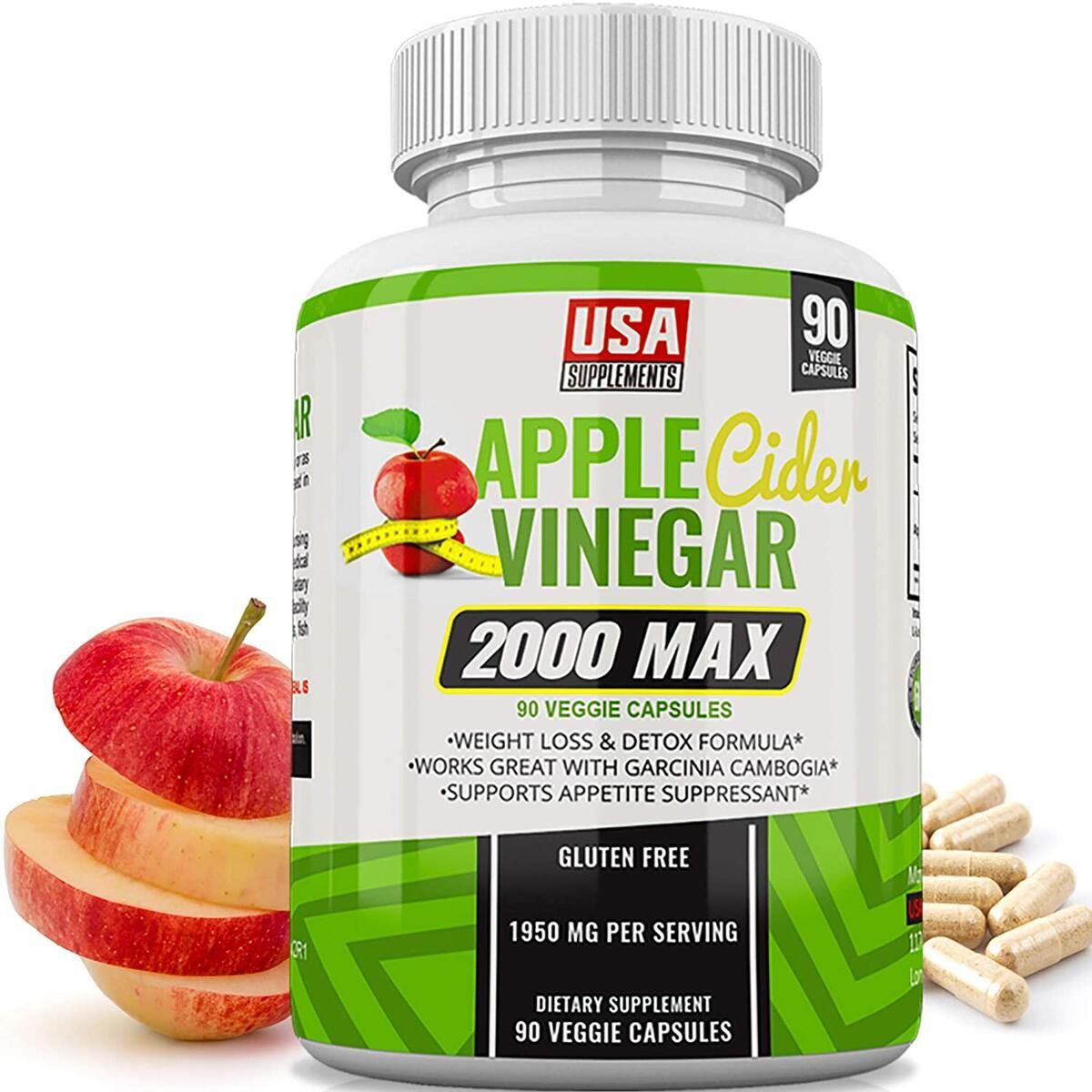 Apple Cider Vinegar 2000 Immune Boosting Supplement and Weight Loss Pills