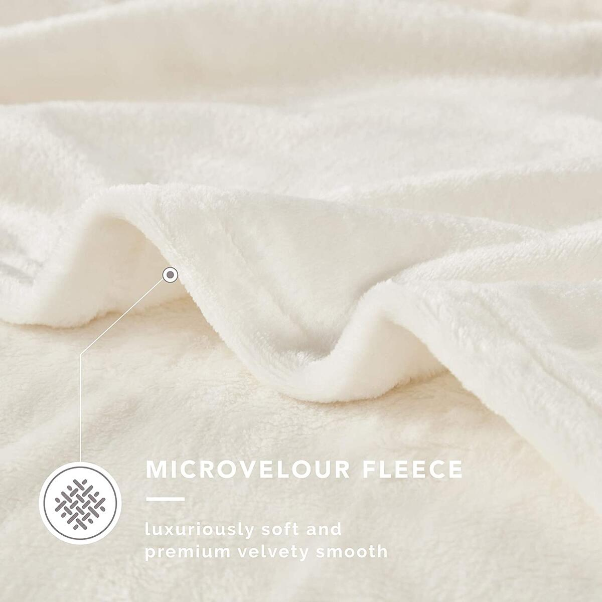 108x90 KING Size Any Color DEGREES OF COMFORT Fleece King Size Blankets for Bed - MicroVelour Velvet Plush | Silky Soft & Lightweight | Use on Couch, Bed or Camping | 4 Sizes, 10 Colors Available Throw Blanket, 108x90 KING Size Any Color