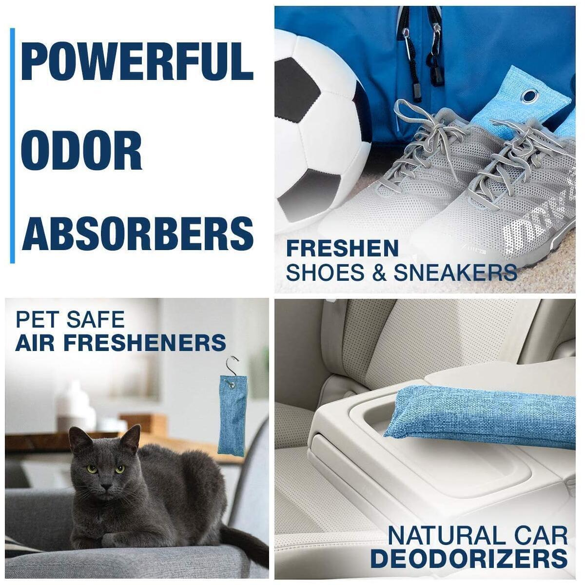 Odor Absorber Charcoal Bags - 4 Pack