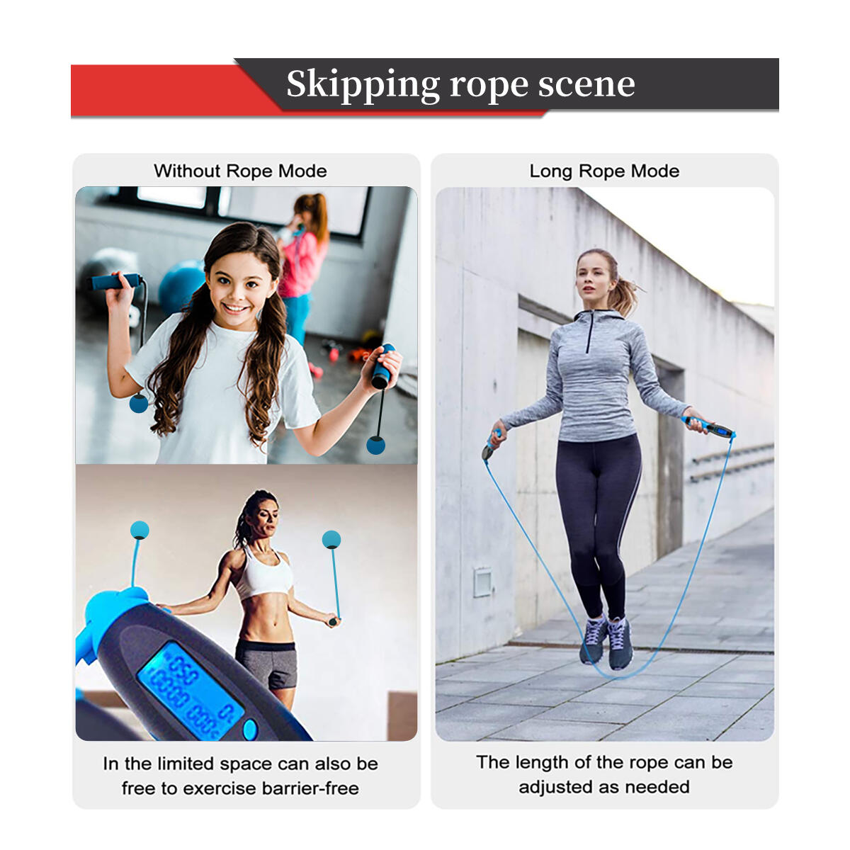 Cordless Jump Rope Weighted with Digital Calorie Counter Smart electronic Ropeless Jump Rope for Indoor and Outdoor Fitness for Men,Woman,Children,Kids