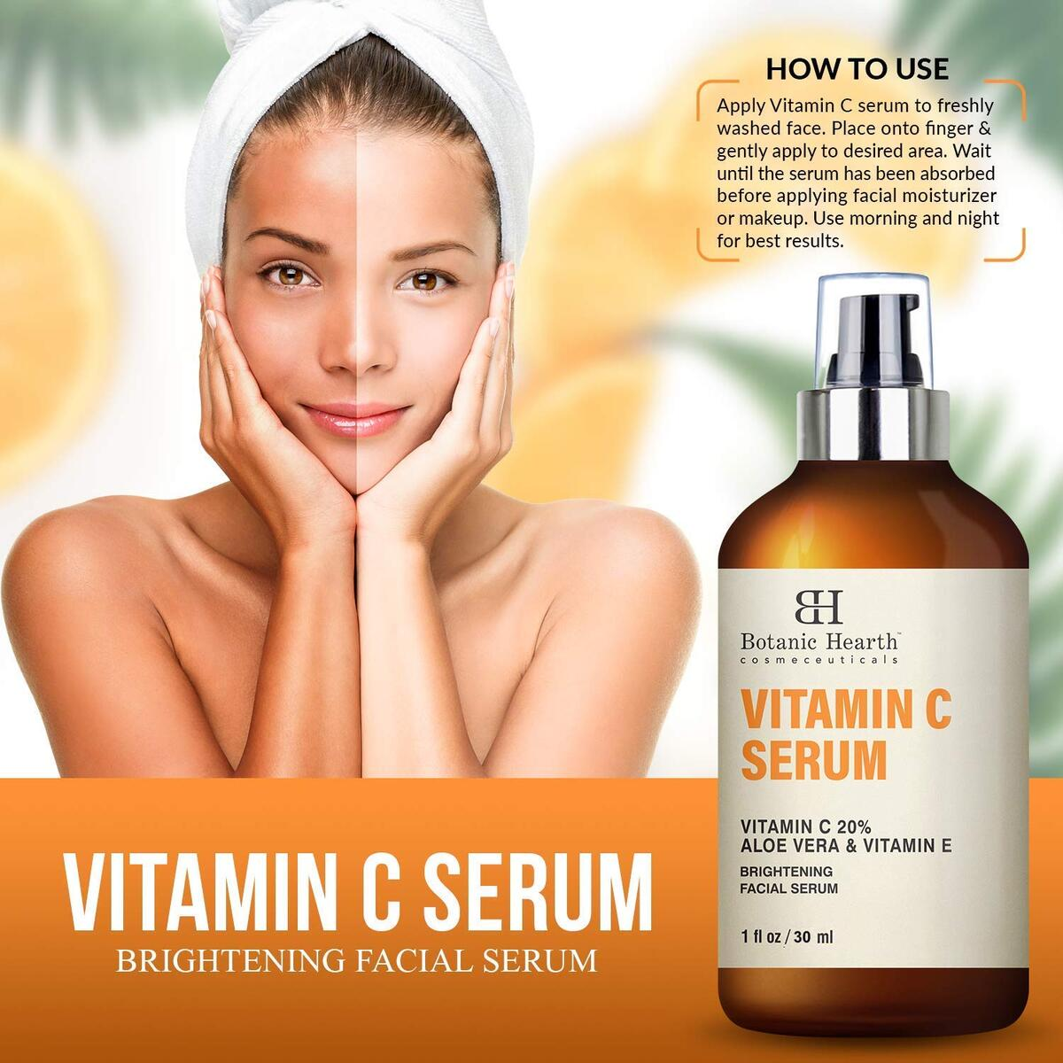 Vitamin C Serum for Face - Facial Serum with Stabilized Formulation for Long Shelf Life - Anti Aging, Advanced Skin Care - 1 fl oz