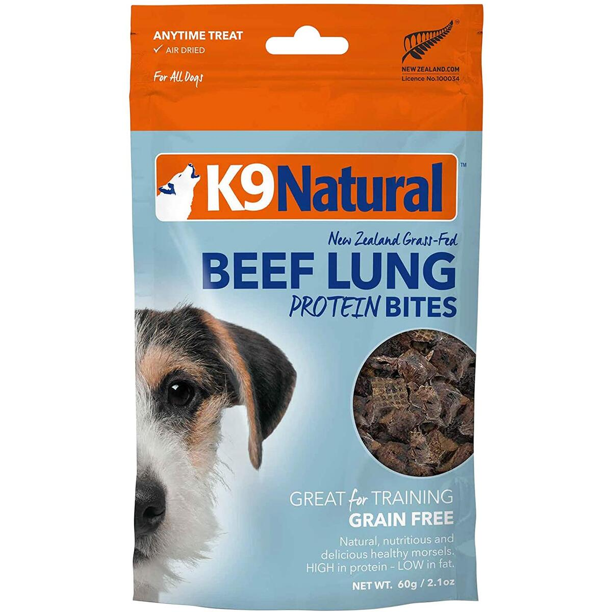 K9 Natural Grain-Free Air Dried Dog Treat Beef Protein Bites