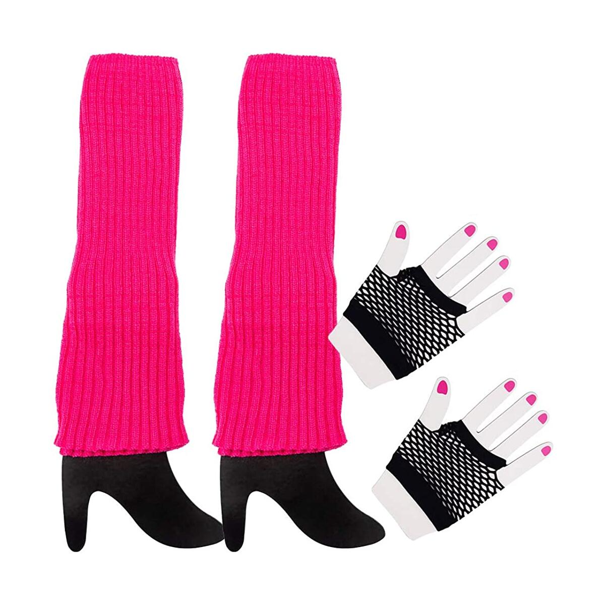 80s Leg Warmers and Black Fishnet Gloves | 1980's Style Costume Accessories for Women