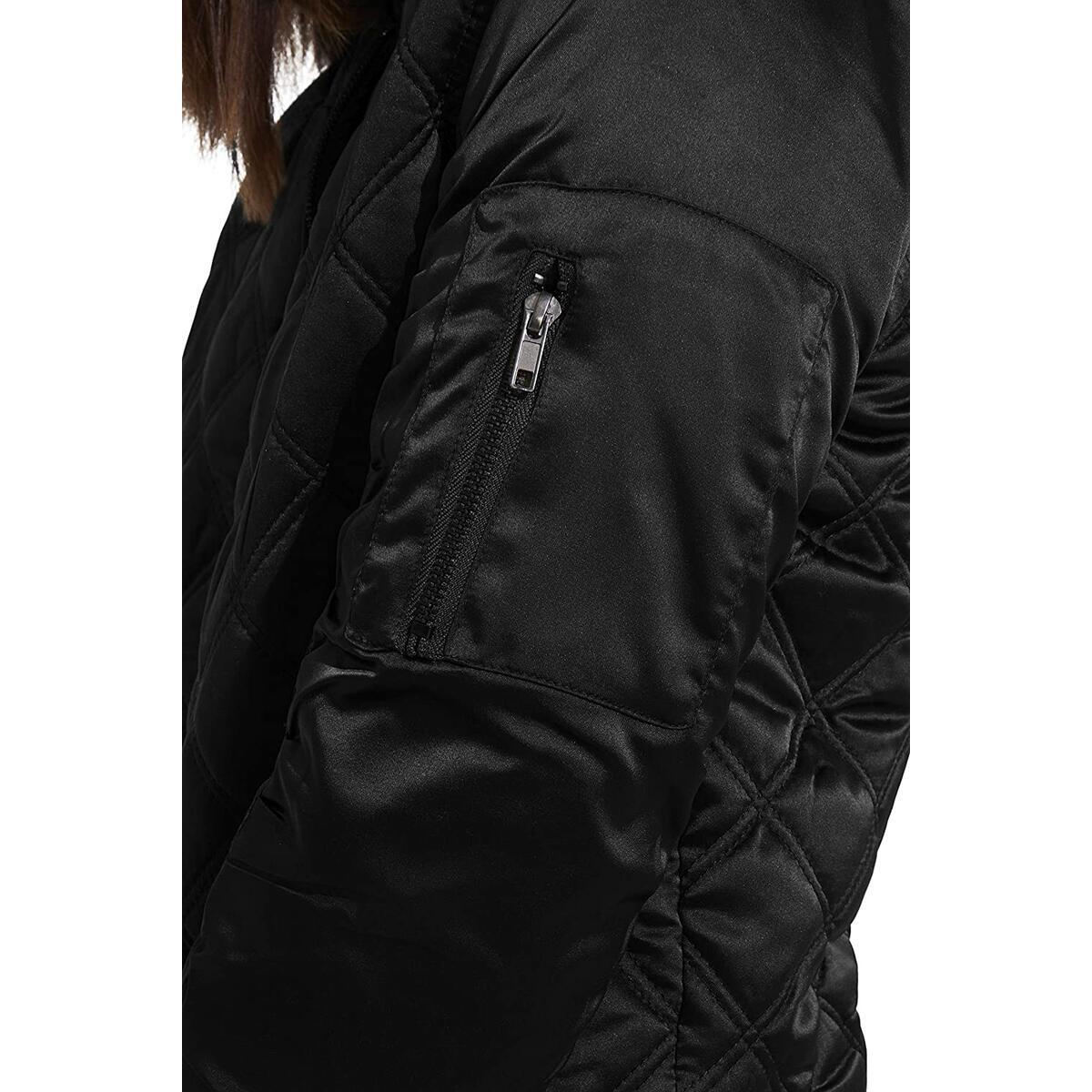 Weatherproof Womens Bomber Jacket Light Quilted Cropped Insulated Jacket