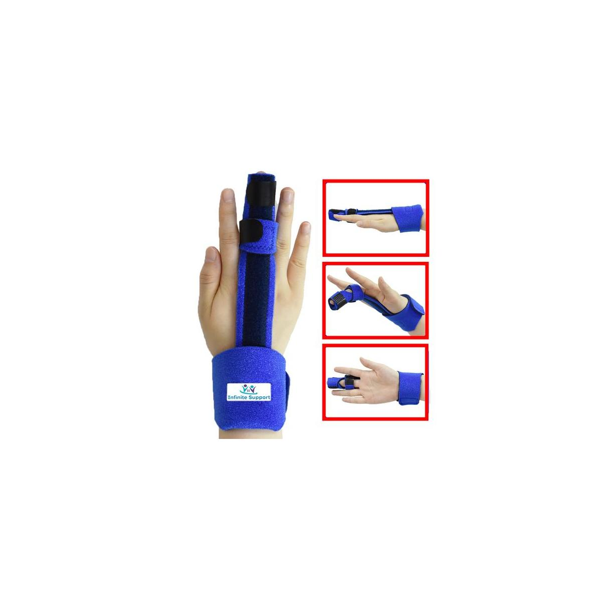 Infinite Support Malleable Finger Splint - Trigger Finger Splint, Mallet Finger Brace Relieve Pain, Full Hand, Fingers and Wrist Brace Support for Broken Fingers