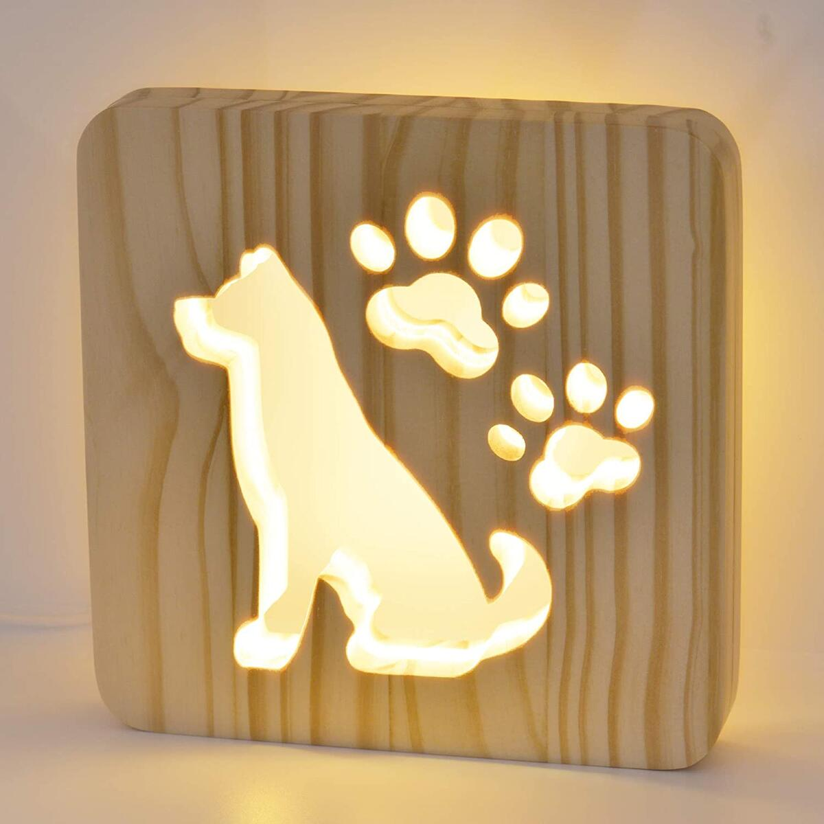 USB-Powered Dog-Shaped LED Night Light For Babies and Children