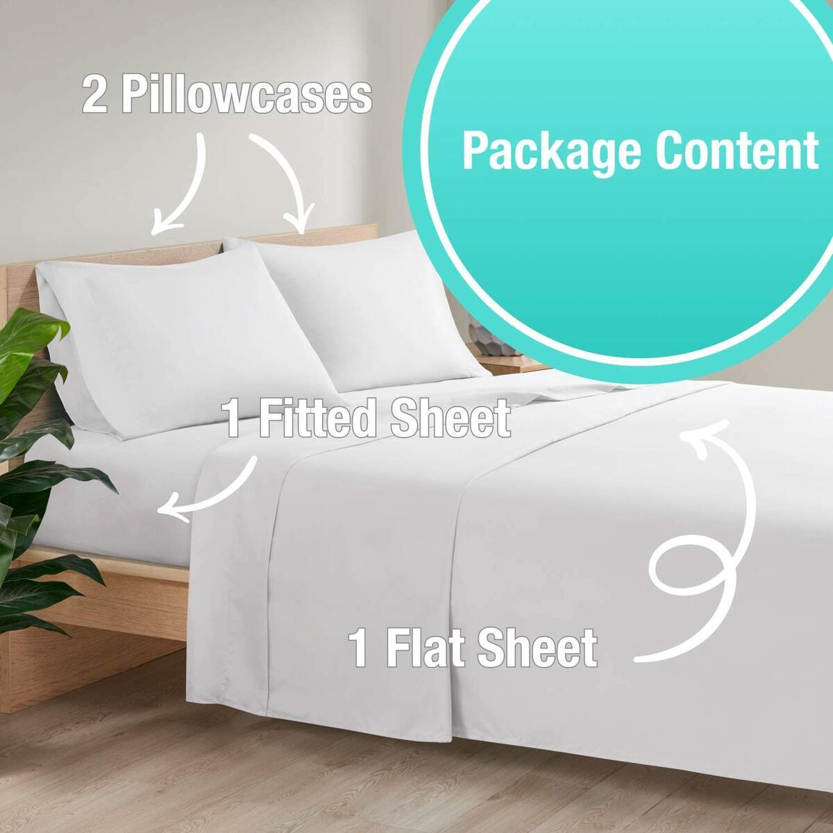 ANY COLOR Degrees of Comfort Full Bed Sheet Sets 4 Pieces | Silky Soft Durable Brushed Microfiber | Shrink & Pilling Resistant – Color Lasts After Every Machine Wash