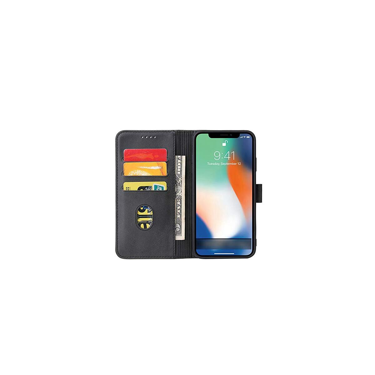 """Ds44 iPhone 12 pro max case Wallet Compatible with 6.7"""" Card Holder flip Stand Leather Magnet Cover Holder Kickstand"""