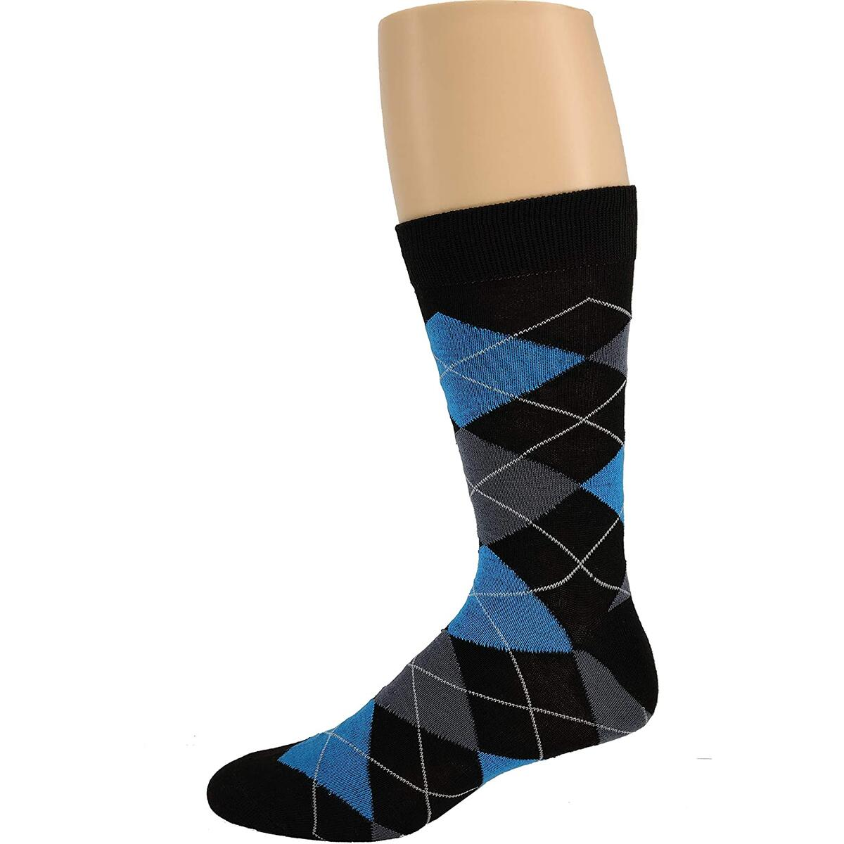 Debra Weitzner Mens Dress Socks Cotton Colorful MULTI STRIPED PATTERN ONLY 6 Pairs With Gift Box F