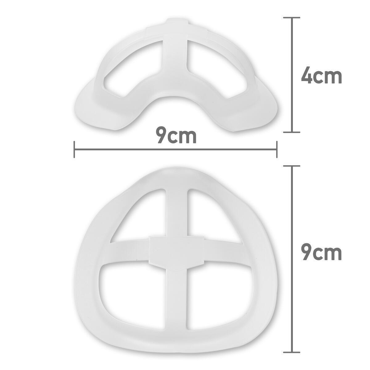 Adult 3D Face Mask Bracket – Inner Support Frame for Cloth Masks – Large – 10 Pack – Lipstick Protection – No Fog Glasses Protection – Reusable – Clear – SafeLux