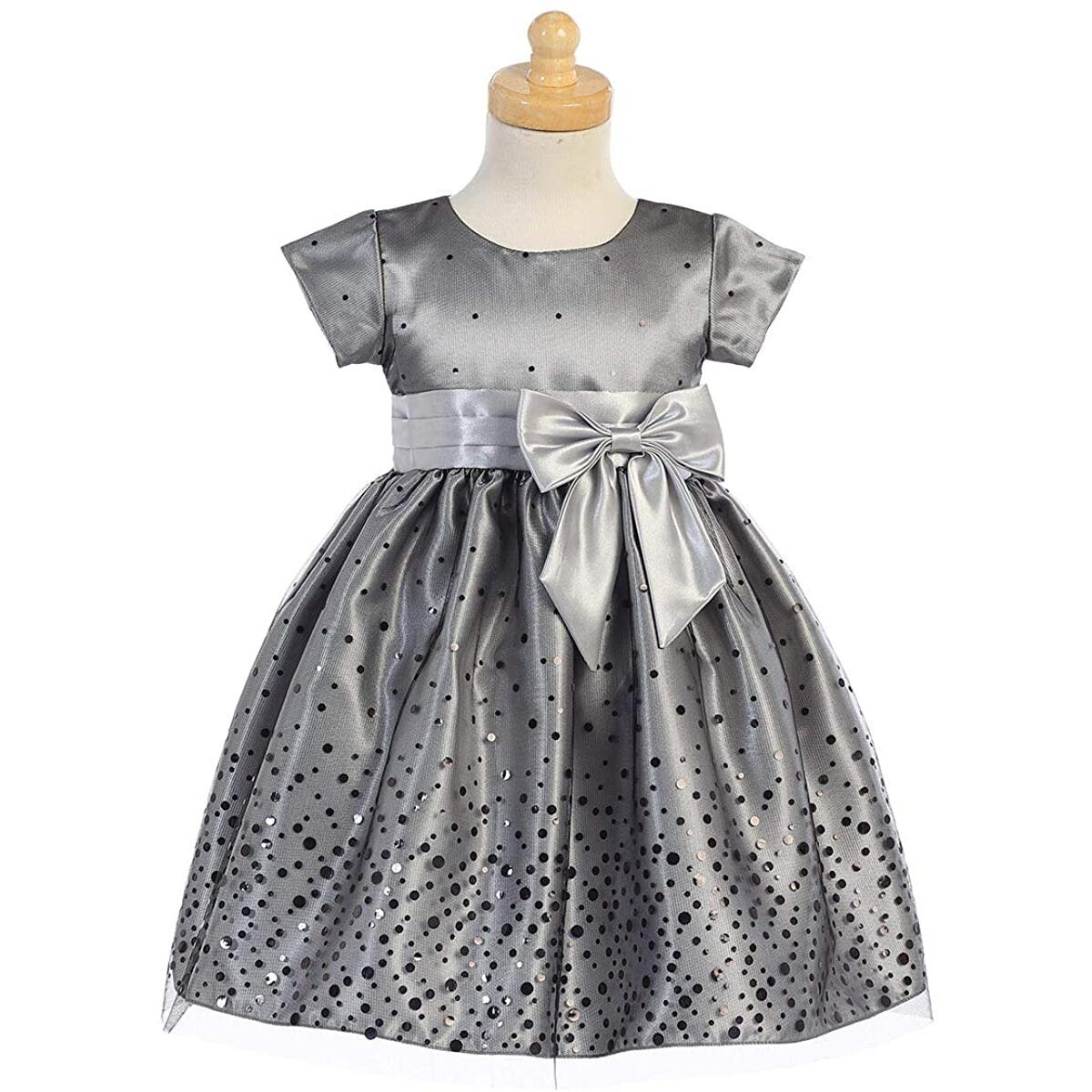 Pink Princess Christmas Dresses for Girls - Gold, Silver Baby Toddler Outfits - Made in USA
