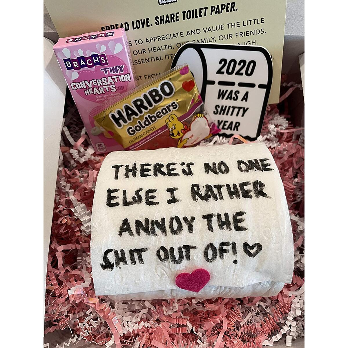 The Valentine's Day Gift Package, 1 Toilet Paper Roll with Custom Message