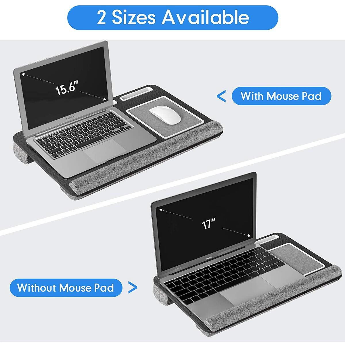 AboveTEK Lap Desk, Home Office Laptop Desk with Tablet, Pen & Phone Holder, Computer Lap Desk Fits up to 17